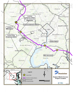 dominion compressor station map
